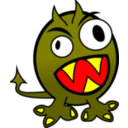 Small Funny Angry Monster