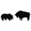 download Bull Bear Variation Iv clipart image with 315 hue color