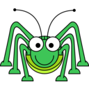 download Cartoon Grasshopper clipart image with 45 hue color