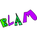 download Blam clipart image with 45 hue color