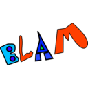 download Blam clipart image with 135 hue color