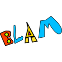 download Blam clipart image with 315 hue color