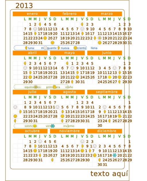 Calendario 2013 calendar v 2 clipart i2clipart royalty for Clipart calendario
