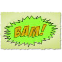 download Bam Comic Book Sound Effect clipart image with 45 hue color