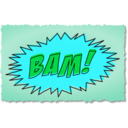 download Bam Comic Book Sound Effect clipart image with 135 hue color
