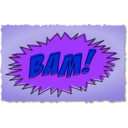 download Bam Comic Book Sound Effect clipart image with 225 hue color