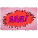 download Bam Comic Book Sound Effect clipart image with 315 hue color
