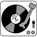 download Simple Turntable clipart image with 45 hue color