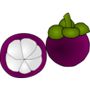 download Mangosteen Thai Fruit clipart image with 315 hue color