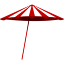 Red White Umbrella