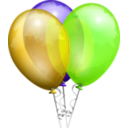 download Party Balloons clipart image with 45 hue color