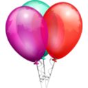 download Party Balloons clipart image with 315 hue color