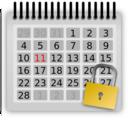 Locked Calendar