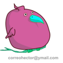 download Fat Bird clipart image with 135 hue color