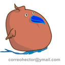 download Fat Bird clipart image with 180 hue color