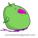 download Fat Bird clipart image with 270 hue color