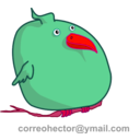 download Fat Bird clipart image with 315 hue color