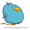 download Fat Bird clipart image with 0 hue color