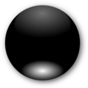 Round Black Button