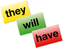 Colored Word Cards Icon