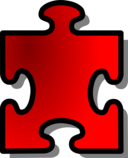 Red Jigsaw Piece 13