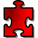 Red Jigsaw Piece 13