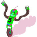 download Running Robot clipart image with 135 hue color