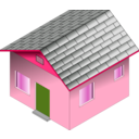 download Small Blue House clipart image with 135 hue color