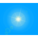 download Sun clipart image with 0 hue color