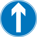 Roadsign Ahead Only