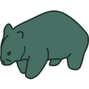 download Wombat clipart image with 135 hue color