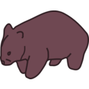 download Wombat clipart image with 315 hue color