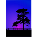 download Cedar Sunset clipart image with 225 hue color