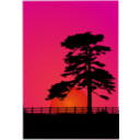 download Cedar Sunset clipart image with 315 hue color
