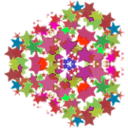 download Kaleidoscope 3 Fold Symmetry clipart image with 315 hue color