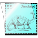 download Dino Stamp In Stamp Mount clipart image with 45 hue color