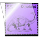 download Dino Stamp In Stamp Mount clipart image with 135 hue color