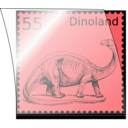 download Dino Stamp In Stamp Mount clipart image with 225 hue color