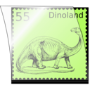 download Dino Stamp In Stamp Mount clipart image with 315 hue color