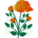 download Rose clipart image with 45 hue color