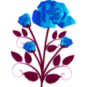 download Rose clipart image with 225 hue color