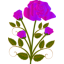download Rose clipart image with 315 hue color