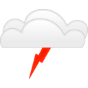 download Overcloud Thunder clipart image with 315 hue color