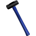 download Red Sledgehammer clipart image with 225 hue color