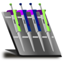 download Pipette Stand clipart image with 45 hue color