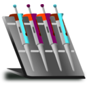 download Pipette Stand clipart image with 135 hue color
