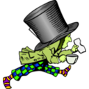 download Mad Hatter clipart image with 45 hue color