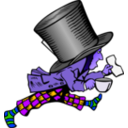 download Mad Hatter clipart image with 225 hue color