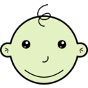 download Smiling Baby clipart image with 45 hue color