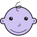 download Smiling Baby clipart image with 225 hue color